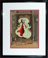 Disney Cel Cruella de Vil Sericel Signed original Voice 1961 101 Dalmatians