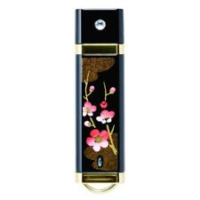 Japanese Lacquer Ware USB Memory 16GB Swarovski Plum + Box Japan with Tracking