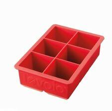 Tovolo King Cube Ice Tray Mold Bake Red Silicone Freeze Broth Stock Juice Tea