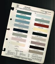 1963 LINCOLN CONTINENTAL Color Chip Paint Sample Brochure / Chart: PPG