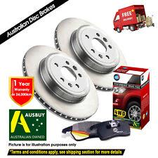 For SUBARU Impreza RS 2.5L 266mm 03-09/05 REAR Disc Rotors & 4X4 Pads DB1672