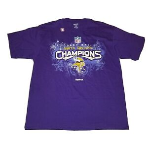 2009 NFC North Division Champions T-Shirt NFL Minnesota Vikings - Large L - New