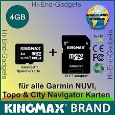 NEU MicroSD HC SD Karte - für alle Garmin NUVI, Topo & City Navigator Karten