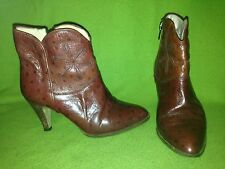 Rare Vintage 70's Brown Fox & Fluevog Ankle Boots 5B