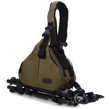 Caden K1 Waterproof  Messenger Shoulder Bag for Sony Nikon  Camera ARMY GREEN