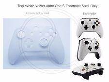 New Xbox One S White Velvet Soft microsoft Controller Front Shell Unique custom