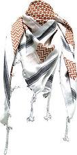 PLO - Tuch Palästinensertuch Weiss-Braun-Schwarz 110x110cm PLO007