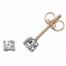 Diamant Solitaire Ohrringe Gelbgold Stecker 0.20ct Karat Schätzung Zertifikat