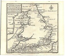 Antique map, Sea coast of England & Wales with ye fortifications, ..., &c.