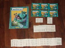 Monsters Inc Complete 2001 Panini empty sticker album, loose stickers & extra's