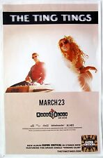 THE TING TINGS 2016 SAN DIEGO CONCERT TOUR POSTER - Indie, Pop, Electronic Music