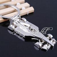 Racing Car Model Plane F1 Car Keychain Keyring Metal Key Fob Chain Ring Chrome G