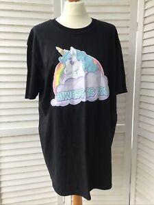 My Little Pony Gildan T-Shirt Top Size Large Black Unicorn ALWAYS BE YOU