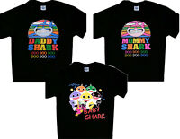 Matching Family Theme Vacation Shirts T Shirt Mom Mommy Daddy Dad Baby Shark