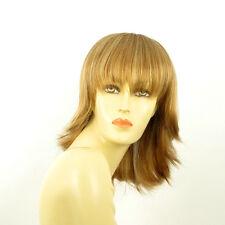 Perruque femme mi-longue blond foncé méché blond clair VANILLE F27613