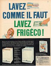 PUBLICITE  1960   FRIGECO   lave linge éléctroménager frigidaire