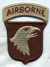 101st Airborne Division DCU Desert Tan Patch W/TAB REVERSED FACEING RIGHT
