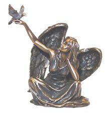 Guardian Angel with Holy Spirit Dove Statue Peaceful Spiritual Angel Figure