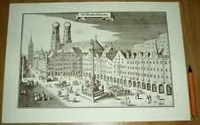 München alte Ansicht Merian Druck Stich 1650 (schw)