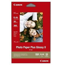 Canon PP-201 (13 x 18cm/5 x 7 inch) 260g/m2 Glossy II Plus Photo Paper (20