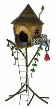 Fairy Straw Tree House Fairy Kingdom Fountasia Metal Garden Ornament Decoration