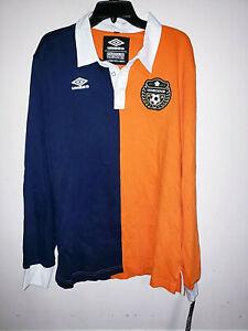 Mens Umbro Famous Nobodys Long Sleeve Soccer Polo Shirt Size XL New NWT $100