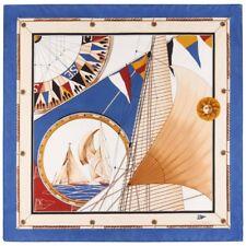 """LOUIS VUITTON c.1995 """"Louis Vuitton Cup"""" Yacht Nautical Print Silk Scarf LTD ED"""