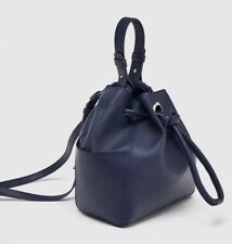 GENUINE ZARA NAVY BUCKET BAG BNWT
