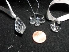 Swarovski Trio of Pendants - Oval, Teardrop and Showflake - Perfect! See photos