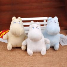 "3pcs Japaness Moomin Plush Toy 4""/10cm Bag Keychain Decor with Tag Doll Kid Gift"