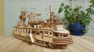 "Ugears Code: 70135 Wooden 3D Mechanical model ""Research vessel"""