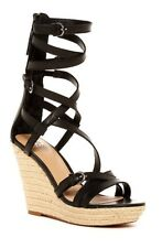 e614a87cad74 NEW Joes Jeans Sz 8 Temple Womens Black Leather Gladiator Wedge Sandal