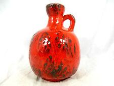 Cool 70´s Design Ruscha Pottery Jug jarrón in a red Fat lava glaze variation 333