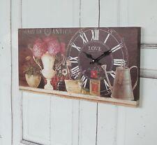 Wanduhr NOIR, antique Uhr im Shabby chic Landhausstil