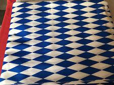 Deko Stoff Rauten Bayernraute große Raute weiß/blau Bayern Oktoberfest 5 meter