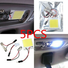 5PCS Light 48 SMD T10 4W COB Panel Lights LED Car Interior 12V Lamp Bulb Dome