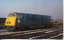 Warship Diesel Locomotive D825 Intrepid Clapham Junction 1969 postcard