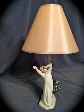 "~FREE Fast Shipping~ Lladro Nao ""Boy Yawning"" Lamp (Works Great & Mint)"