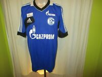 """FC Schalke 04 Adidas Spieler Freizeit- Training Trikot 2012/13 """"GAZPROM"""" Gr.XL"""