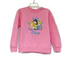 Disney Store Princess Sweatshirt Size Large 10/12 Pink Embroidered