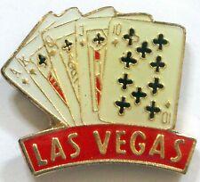 Las Vegas Cards Pin Hat Lapel Casino Cards Shirt Gift Blackjack Poker Gambling