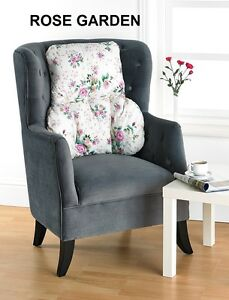 Printed Floral Pattern BACK & LUMBAR SUPPORT CUSHION/PILLOW *Made in the UK*