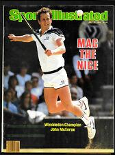 1984  Sports Illustrated  JOHN McENROE  Wins WIMBLEDON      NO LABEL   Very Good