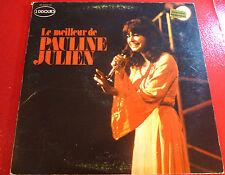 Double LP Album vinyl Le Meilleur de Pauline Julien ! Total Canada Records