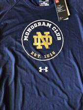 Under Armour Notre Dame Fighting Irish Mens Navy Monogram Club T-shirt Medium
