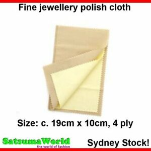 Fine Jewellery Polishing Cloth Cleaning Clean Polish Gold Silver Platinum Soft
