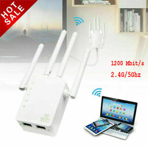 1200M Mbit/s Dual-Band WLAN-Router 2,4/5 GHz WiFi Repeater Access-Point LAN WAN