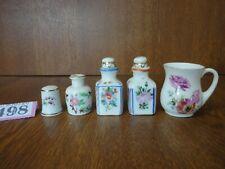 3 Miniature Porcelain Bottles / Royal Doulton Mug & Hollohaza Thimble