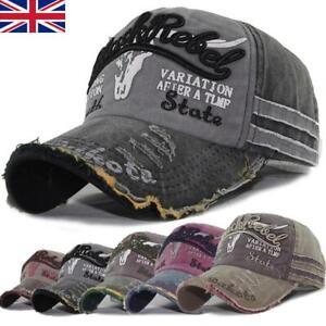 Summer Cap Vintage Cotton Baseball Cap Unisex Distressed Snapback Trucker Hat