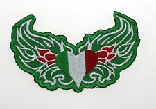 Irish Flag With wings embroidered BIKER PATCH